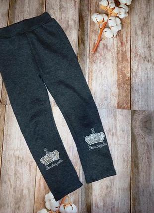Теплые штаны, лосины, джеггинсы зимние на мeху, размер 166-122