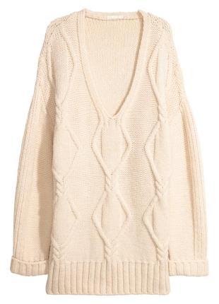 Объемный свитер крупной вязки h&m