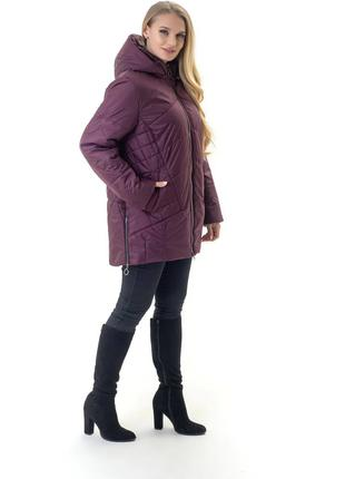 Стильная женская куртка больших размеров рр 52-70 цвета
