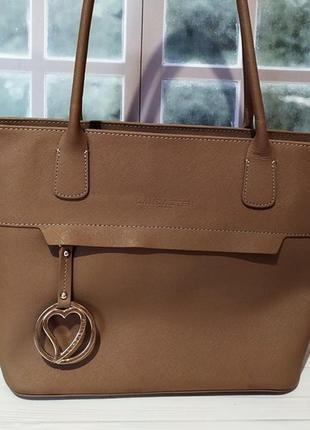 Lancaster оригинал! брендовая коричневая сумка. италия.