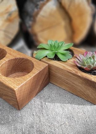 Горшок кашпо деревяний для квітів