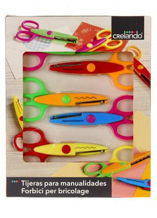 Набор 6 шт ножниц crelando для скрапбукинга