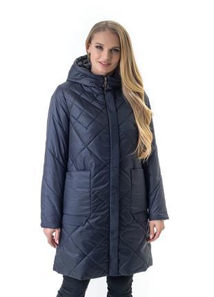 Модная деми женская куртка скапюшоном рр 44-60 цвета