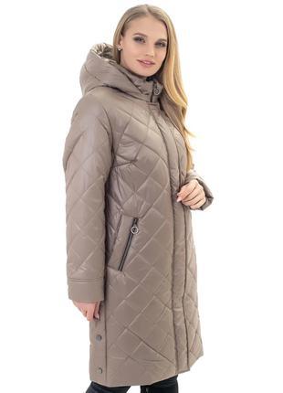 Женская длинная куртка большихразмеров- стильная новинка рр 52-7