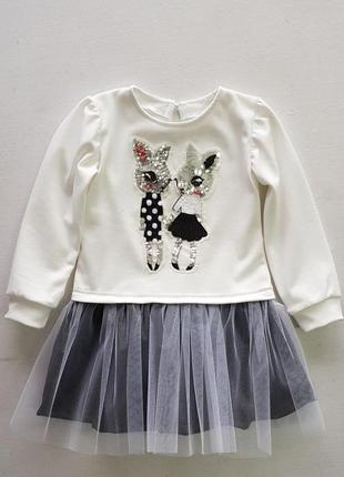 Платье детское зайчишки