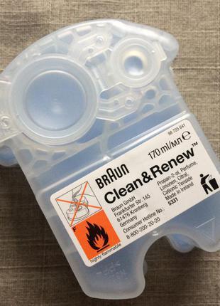 Картридж для систем самоочистки бритв braun clean&renew