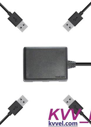 Автомобильное зарядное устройство для 4 USB устройств от прику...