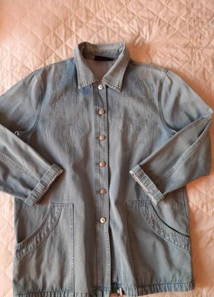 Джинсовая куртка ветровка lafei star размер 54-56.