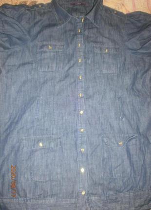 Джинсовая рубашка размер 56-58.