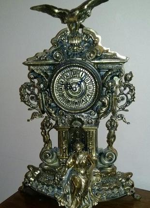 БРОНЗОВЫЙ НАБОР Часы и Канделябр