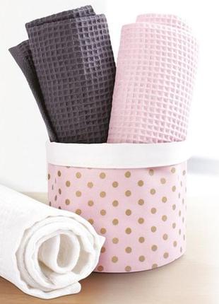 Набор из трех полотенец нежные очаровательные полотенца для ва...