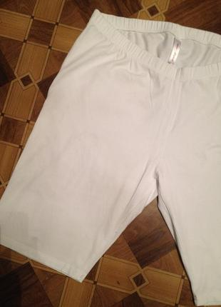 Панталоны большого размера белые.