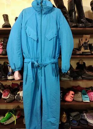 Зимний  женский комбинезон  48 размер голубого цвета