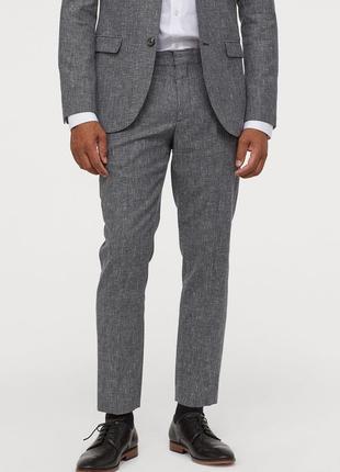 Костюмные брюки h&m premium quality , slim fit !