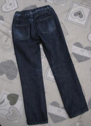Утепленные джинсы на девочку 5-6 лет