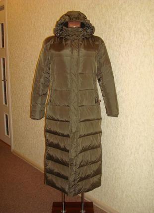 Eckored зимний длинный пуховик с капюшоном, пальто пуховое, 60...
