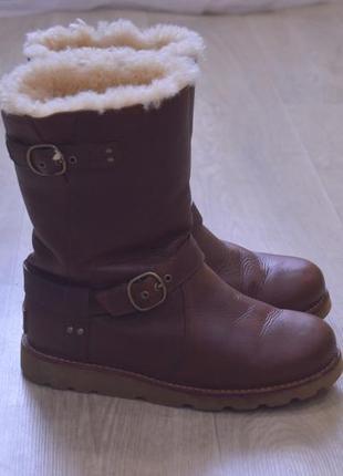 Ugg женские зимние ботинки кожа оригинал