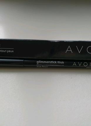 Карандаш для глаз черный Кинодива Avon glimmerstick flick