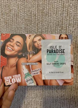 Пробник автозагара isle of paradise оттенок medium