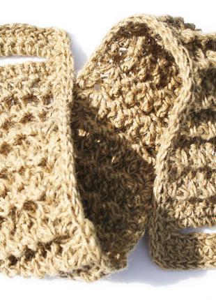 Мочалка 75х9 для спины массажная из джута с рельефными полосами