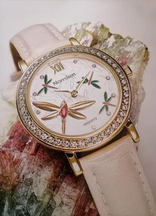Годинник із бабками і браслетом під крокодилячу шкіру, прикраш...