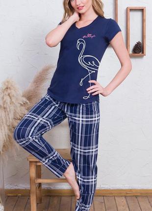 Женская одежда для дома и сна хлопок, комплект домашней одежды...