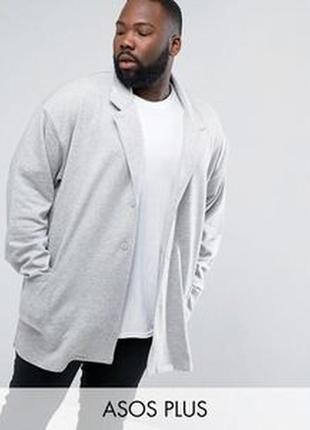 Jacamо пиджак куртка джерси пальто свободное из трикотажа серы...