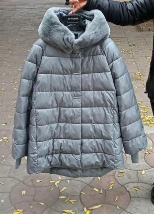 Зимняя женская стеганна куртка пуховик оверсайз cattail willow