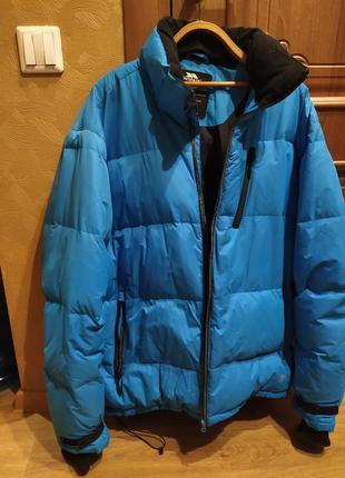 Зимняя мужская куртка пуховик trespass blue, xl