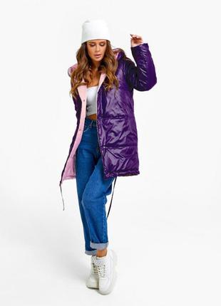 Женская двусторонняя куртка на синтепоне
