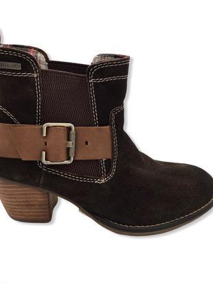 Женские замшевые сапоги ботинки s. Oliver 36 оригинал