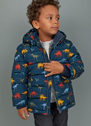 Стильная демисезонная куртка на мальчика h&m динозавры