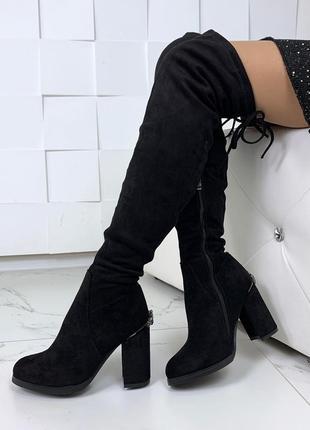 Шикарные зимние сапожки на удобном каблуке
