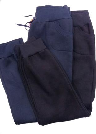 Спортивные штаны на флисе с манжетом