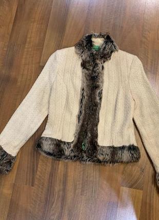 Жакет куртка с эко мехом