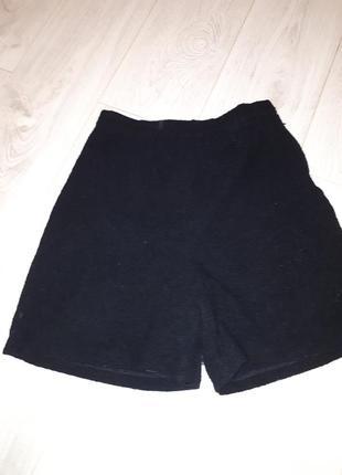 Теплые шорты на подкладке шерсть букле
