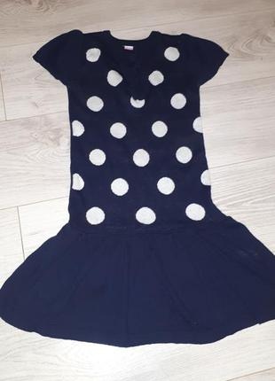 Теплое вязаное платье сарафан глория джинс
