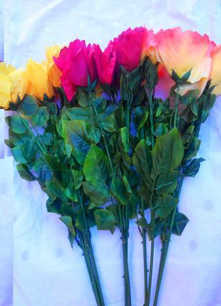 Цветы искусственные Розы высота 70 см