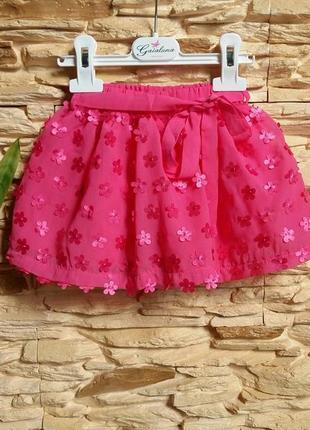 Нарядная юбка gaialuna (италия) на 6-12 месяцев (размер 64)