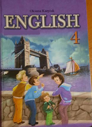 Oksana karpiuk english 4 клас workbook робочий зошит з англ. мови
