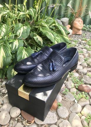 Мужские крутые классические  лоферы туфли luciano bellin...