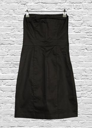 Коктейльное платье черное без рукавов