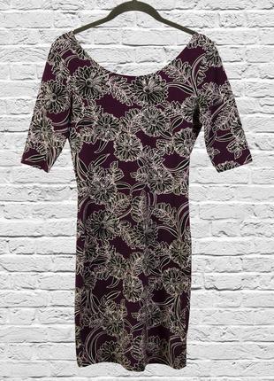 Приталенное платье короткое с полуоткрытой спиной