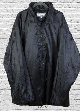 Черная куртка оверсайз, черный плащ свободный, куртка демисезо...