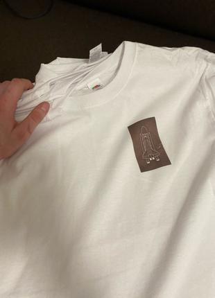 Футболки ROCKET_CLOTHES, на базі білої футболки