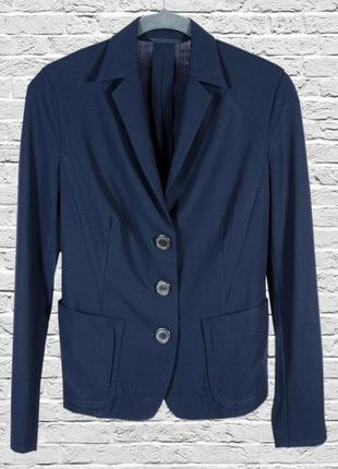 Темно-синий пиджак классический, приталенный пиджак синий, син...