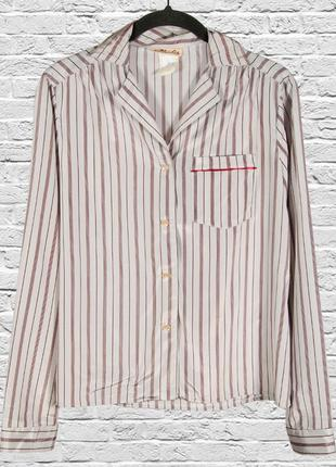 Классическая рубашка в полоску, женская рубашка серебристая