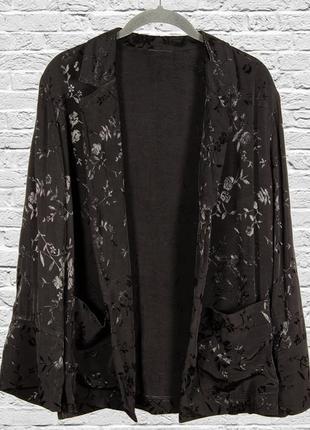Черный пиджак оверсайз, свободный жакет модный