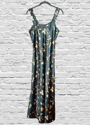 Длинный сарафан в пол, длинное платье в пол, зеленое платье