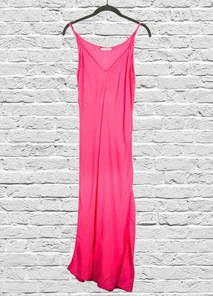 Платье в бельевом стиле, розовый сарафан в пол, длинный сарафан